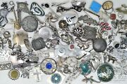 Wow Bulk Bag Sterling Silver Pins Brooches Many Signed 750 Dwt 925 Asst 21215