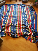 2 Vintage Sears Fringed Nautical Bedspreads Anchors Stars Both Full Size More