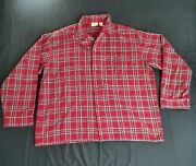Ll Bean Womenand039s Size Xl Red Plaid Flannel Pajama Top Itemid 107923