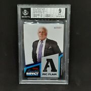 📈 Ric Flair 2011 Tristar Tna Impact Blue Armani Suit Relic A Sp /25 Bgs Mint 9