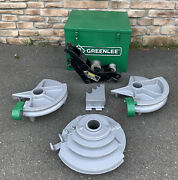 """Greenlee 555 Hydraulic Pipe Bender 1/2""""-2"""" Emt Shoes And Rollers Nice Shape 2"""