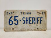 Vintage 1987 Tennessee Sheriff License Plate - Macon County
