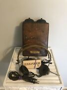 Western Electric Telephone Ringer Box 295 A And Type Ll Headphones Vintage Parts