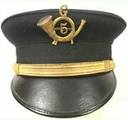 Spanish American War Us Army M1902 Officer Bell Cap -replica With Out Badge
