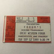 Forums Boxing Tournament Great Western Inglewood Ca Ticket Stub Vintage Sep 1989