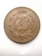 Coin Mexico 20 Cent 1920 Uncirculate Super And Great Condition