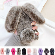 Bunny Fur Fuzzy Plush Rabbit Soft Fluffy Case Cover For Iphone 5 6s 7 8plus X
