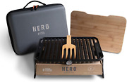 Fire And Flavor Ffg3 Hero Grill System, Multi Portable Charcoal Grill Barbeque Bbq