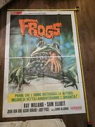 Vintage Original Movie Posters Musical Comedy Horror Lot Of 4 Frogs 2 Sheet