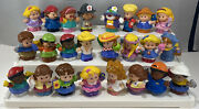 Fisher Price Little People 24 Chunky Multiracial Figures Princess Clown Loc S
