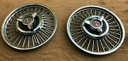 Ford Falcon 13 Wire Wheel Covers Spinners 2 Hubcaps