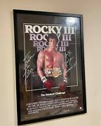 Stallone And Hulk Hogan Rocky Iii Autographed Poster Asi Proof Look Close Balboa
