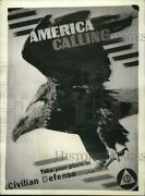 1941 Press Photo Eagle Jerry In A Civilian Defense Corps Poster During Wwii