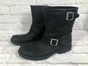 Ugg Rockville Black Lined Motorcycle Riding Boots Mens Size 11 W3m