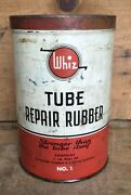 Large Vintage Whiz Rubber Tube Repair Kit Tin Can Gas And Oil Advertising