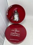 Waterford Crystal 12 Days Of Christmas Bell Ornament 10 Lords Leaping Edition