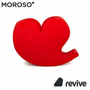 Moroso Soft Heart By Ron Arad Fabric Armchair Red Swing Function