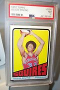 1972 Topps Julius Erving 195 Psa 7 Rookie Rc Squires Near Mint Freshly Graded