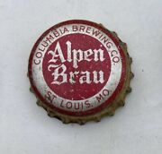 Beer Bottle Cap Crown Alpen Brau St Louis Mo Flat Cone Can Top Brewery Tin Ale