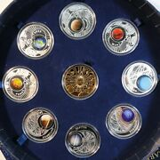 2009 Poland Beautiful Silver Set Of Coins Medals Systema Solare Rare