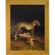 Two Leopards Lying In The Exeter Exchange By Jacques-laurent Agasse Reproduction