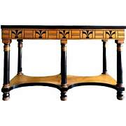 Vintage American Art Deco Console Table By Shaw Furniture Co. Cambridge Ma