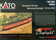 Kato N-scale Sp Daylight 10 Car Set With Dcc Equipped Gs-4 Locomotive