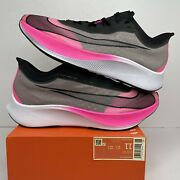 Nike Zoom Fly 3 Vaporweave Pink Black White Running Shoes At8240-600 Men Sz 11