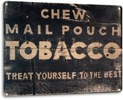 Mail Pouch Tobacco Cigarette Retro Vintage Wall Decor Man Cave Large Metal Sign
