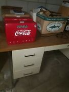 Coca Cola Collectibles Antique,antique Radio Cooler, Opened/used Great Condition
