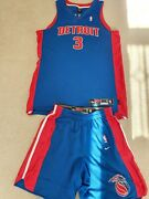 Ben Wallace Nba Detroit Pistons 2004 Road Authentic Jersey And Shorts