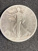 1936-d Walking Liberty Half Dollar .50 Face Value Junk Silver 505w