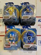 New Jakks Pacific Figure Lot Metal Classic Super And Sonic Wave 2 And 3 Set Rare