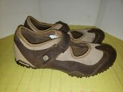 Columbia Audacity Plus Brown Leather Maryjane Hiking Shoes Womans Size 11