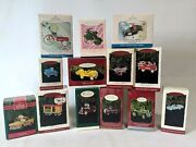 Lot Of 13 Vintage Hallmark Christmas Ornaments Die Cast And Tin Metal