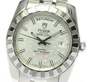 Tudor Classic 23010 Date Day Silver Dial Automatic Menand039s Watch_603434
