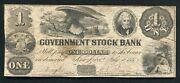 1851 1 The Government Stock Bank Ann Arbor Mi Obsolete Currency Noteandnbsp