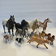 Vintage Breyer Horse Lot Of 14 In Various Sizes One Cow Used