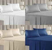 6 Pcs Bed Sheet Set 100 Giza Egyptian Cotton Real My Pillows Queen/king Sizes