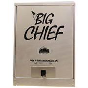 Big Chief Front Load Smoker Electric Great Cooking Wood Chip Grill Silver Large