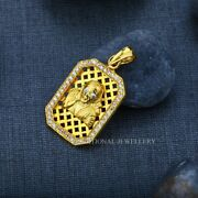 Sai Baba God Menand039s Exclusive 916 Fancy Gold Pendant Man Gift Cz Studded Pendant