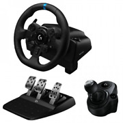 Logitech Driving Force G923 Racing Wheel W/pedals And Shifter Ps5 Ps4 Pc Bundle