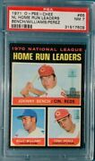 1971 O Pee Chee 66 Nl Home Run Leaders Bench Perez Psa 7 Nicely Centered