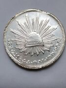 Mexico Coin Marvelus Condition The Best 8 Reales Zacatecas 1844 Om Silver