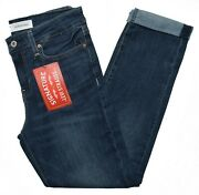 Signature By Levi Strauss 10986 New Womenand039s Stretch Mid Rise Boyfriend Jeans