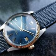 Mens Tudor Oysterdate 74033 34mm 14k Gold And Ss 1990s Automatic Lv714blu