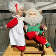 Animated 19 Christmas Love Santa And Mrs. Claus Rocking Chair - Santa's Best 1993