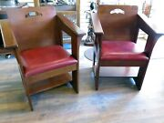 Stickley Limbert Cafe Chair 2007 Mission Collection 89-1500 32 - Pair