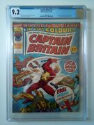 Captain Britain 1 Cgc 9.2 - 1st Captain Britain Marvel Uk 1976 - With Mask