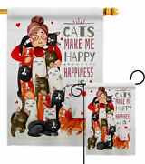 Crazy Cat Lady Garden Flag Animals Decorative Small Gift Yard House Banner